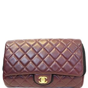 CHANEL CLUTCH WITH CHAIN QUILTED FLAP LAMBSKIN
